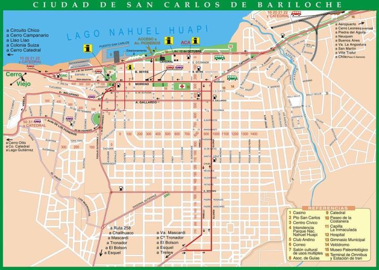 барилоче карта города