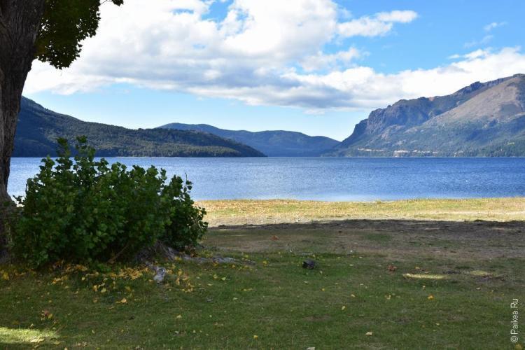 кемпинг на озере гутиеррес в барилоче
