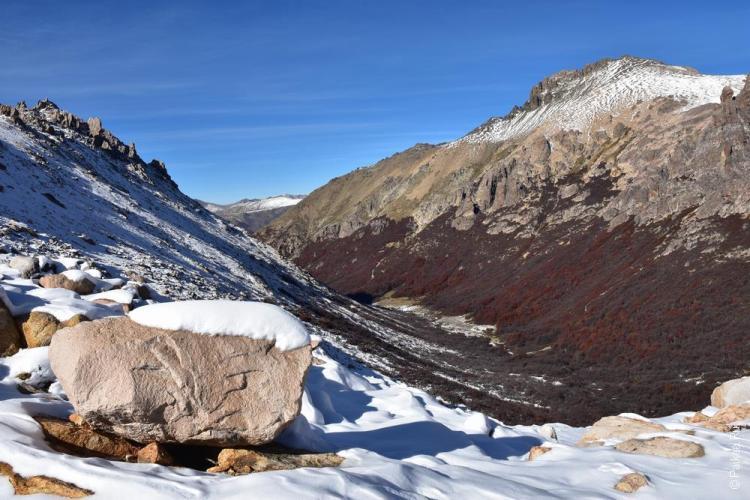 снег в горах барилоче
