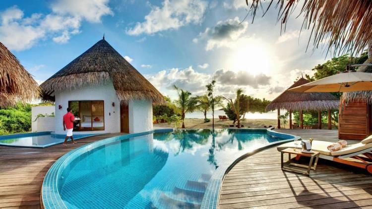 пляжные виллы Мальдив для отдыха с детьми 15