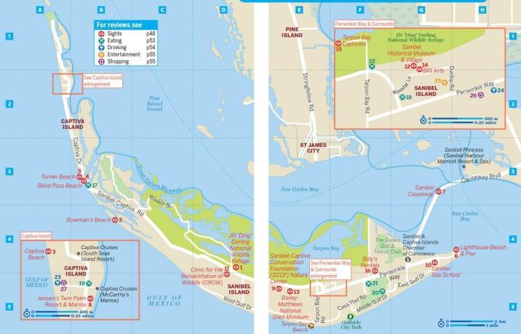 остров санибел карта