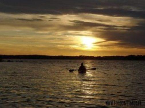 coucher de soleil archipel de Stockholm