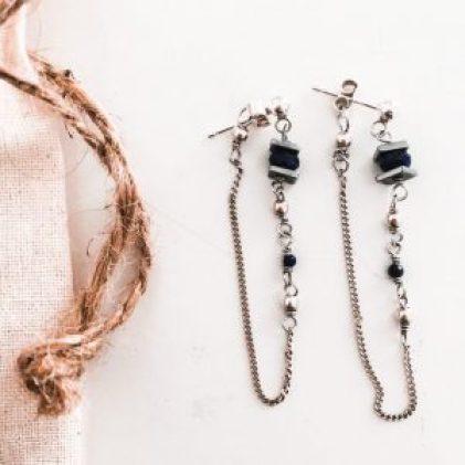 boucles d'oreilles lapis lazuli bijoux fins