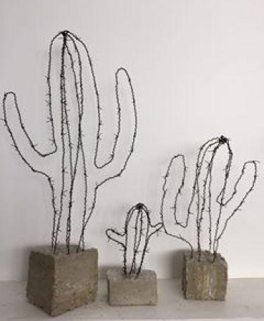 cactus en métal