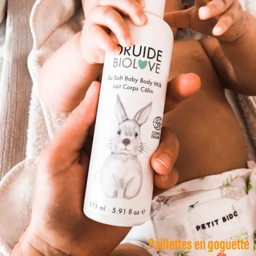 lait corps bio bébé