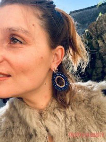 boucles d'oreilles tissées Elyconia