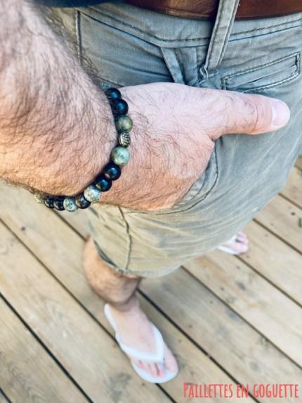 bracelets perles fines pour homme