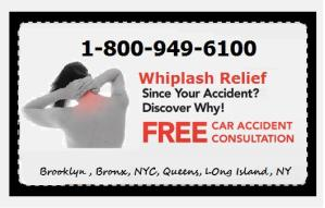 Whiplash Doctors in New York 1-800-949-6100