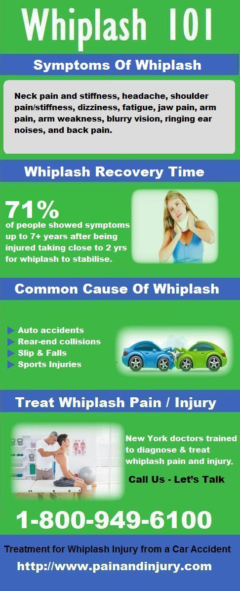 Whiplash refers to an injury to the neck
