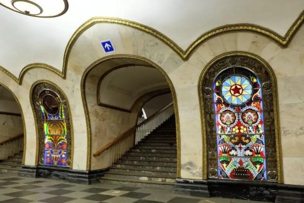 metro di mosca novoslobodskaya