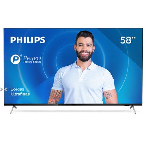 "Smart Tv Philips 58"" 58pug7625/78 4k Uhd P5 Wi-fi Bluetooth Hdr 3 Hdm"