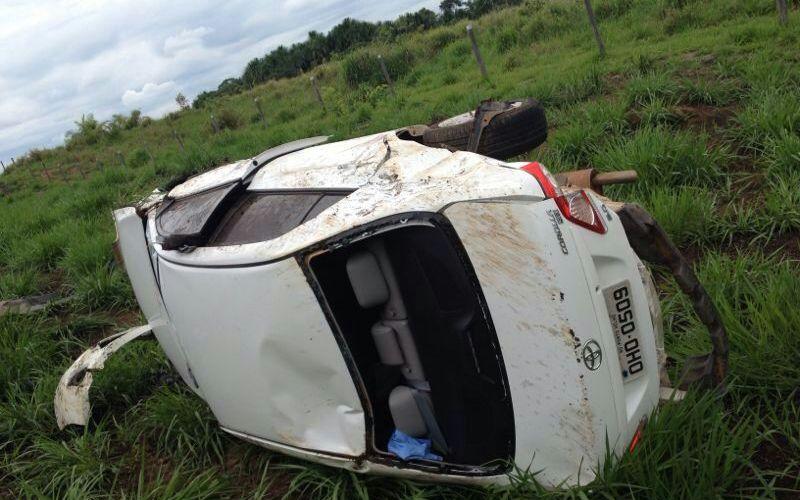 Kaká Mendonça sofre acidente na BR-364