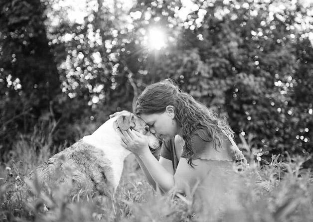 Fotógrafa faz série de cães em estado terminal se despedindo da família