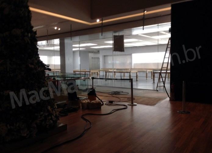Vazam fotos do interior da primeira Apple Store brasileira