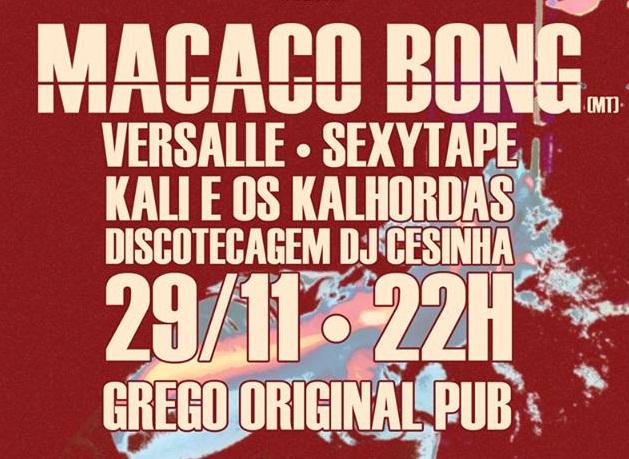 """""""Macaco Bong"""" abre hoje o Grego Original"""