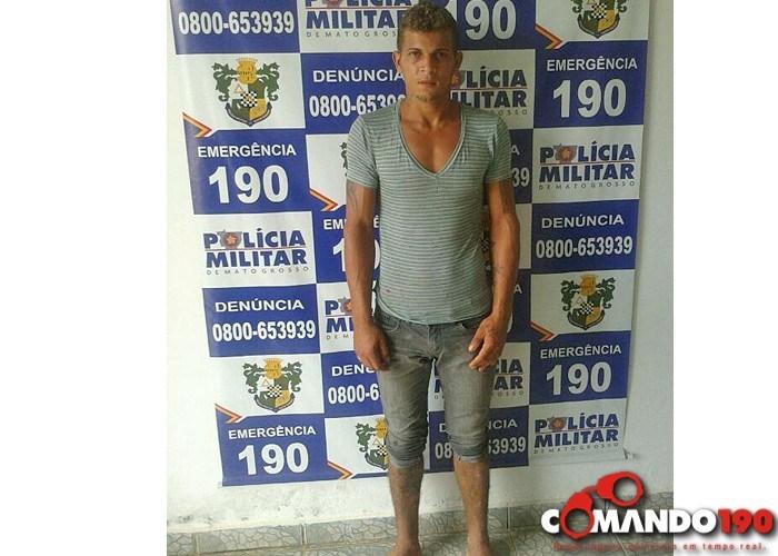 Preso – suspeito de ter assaltado comerciante em Rondolândia