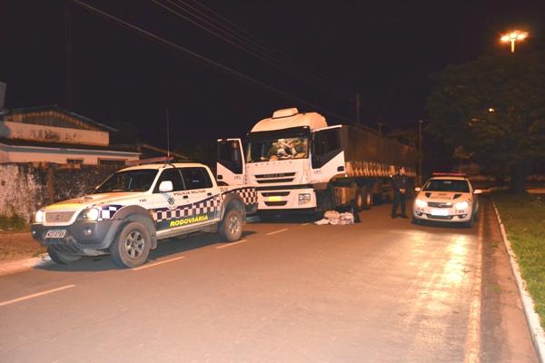 Mais uma: Carreta roubada em MT é recuperada em Vilhena