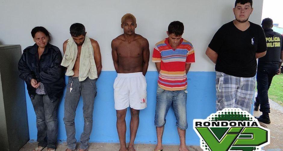 Sete são presos após roubo em Monte Negro