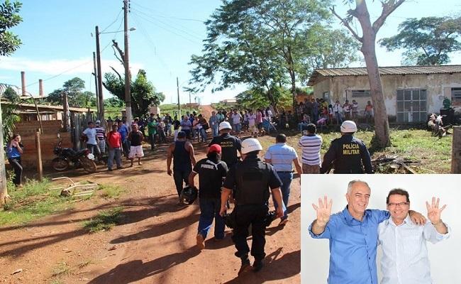 aproximadamente 150 famílias são retiradas de terreno invadido em Porto Velho