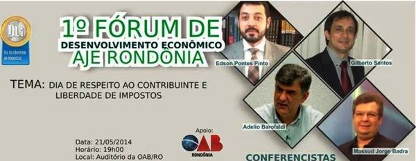 AJE – RO realiza Fórum de Desenvolvimento Econômico nesta quarta-feira
