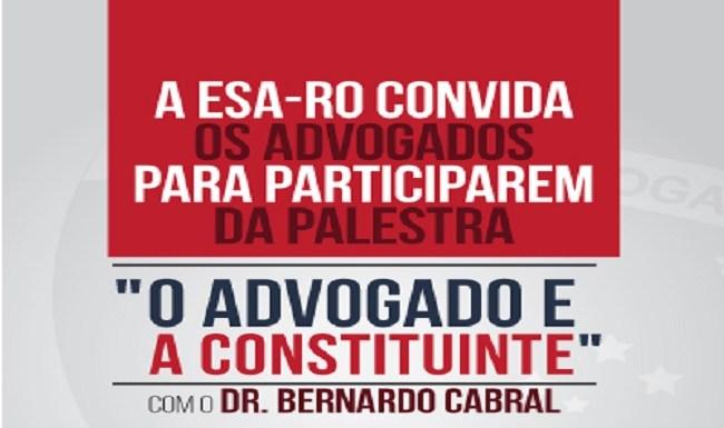 OAB traz a Rondônia relator da Assembleia Nacional Constituinte, dia 27