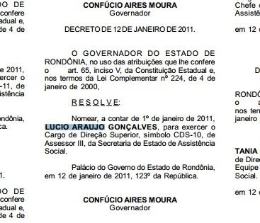 Nomeação Lucio Araújo Gonçalves