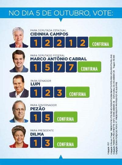 Dobradinha do candidato a Deputado Federal, Marco Antônio Cabral.