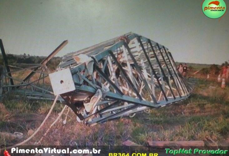 """Tragédia: torre do """"linhão"""" desaba e mata seis trabalhadores em Rondônia"""
