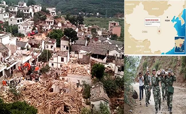 Forte terremoto deixa mais de 170 mortos na China