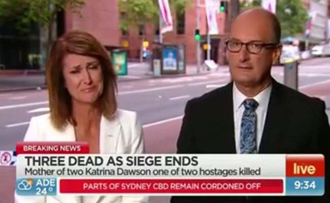 Jornalista chora ao descobrir que conhecia vítima em Sydney