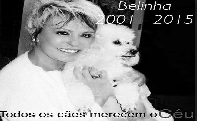 Ana Maria lamenta morte da cachorrinha de estimação Belinha