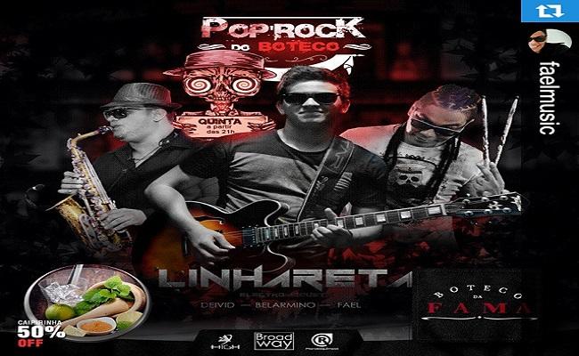 """Reestreia da banda LINHA RETA hoje no """"boteco da fama"""""""