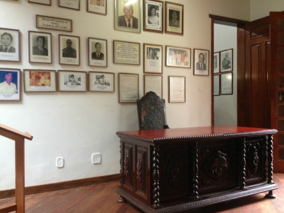 Escritório do governador Jorge Teixeira foi revitalizado para exposição.