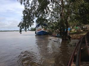 No sábado, 28, rio estava na altura do deck no Complexo Madeira-Mamoré