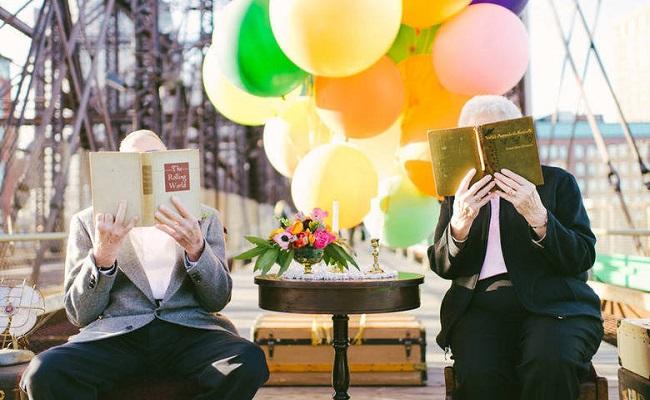 Casal celebra 61 de casamento com fotos inspiradas no filme Up – Altas Aventuras