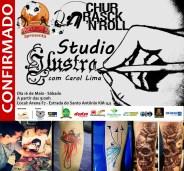 Stand de Tatuagem com a tatuadora Carol Lima, do Ilustra Tattoo Studio.