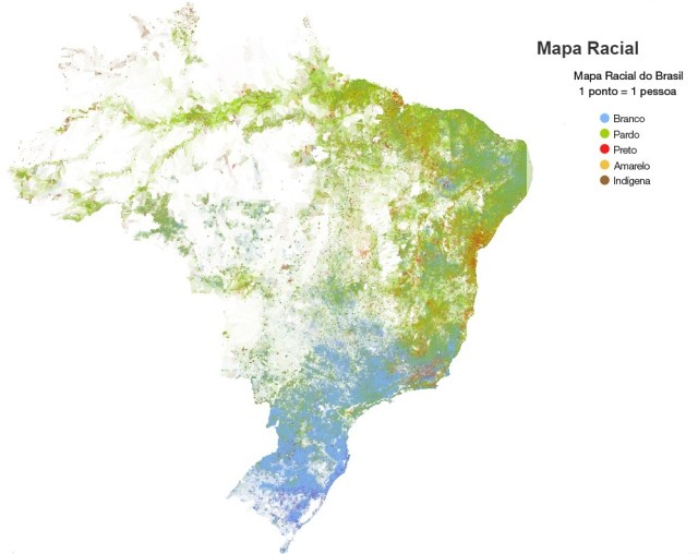 Mapa racial do Brasil