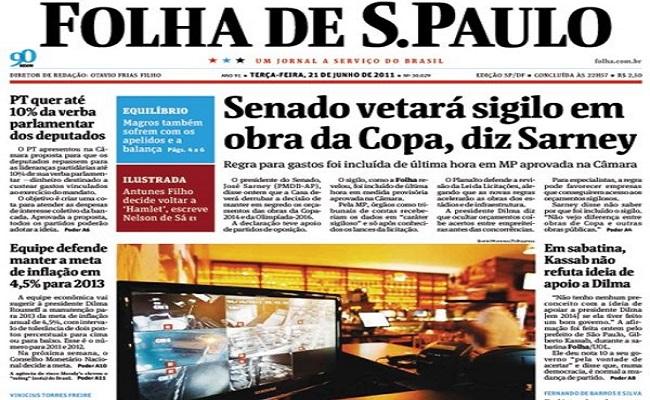 Jornalista que escondeu ofensa em texto não deve indenizar Folha de S.Paulo
