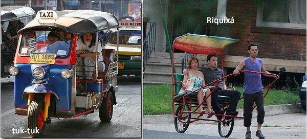 Só falta o riquixá nas ruas brasileiras, porque o tuk-tuk já roda em Brasília
