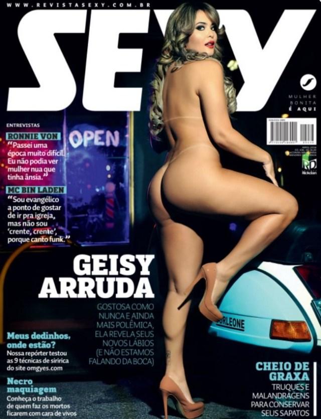 Capa da Sexy com Geisy Arruda