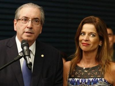 Eduardo Cunha e esposa