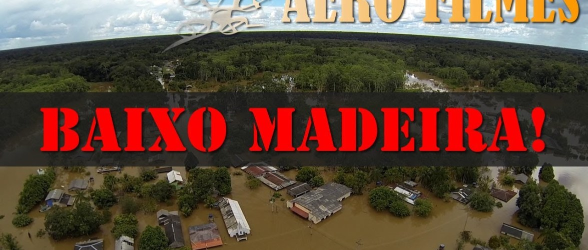 Veja o vídeo aéreo que mostra a situação da cheia do rio Madeira no distrito de Nazaré