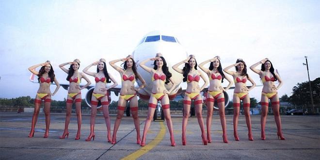 Conheça a VietJet air, a maior companhia aérea do Vietnã onde as aeromoças atendem de biquíni