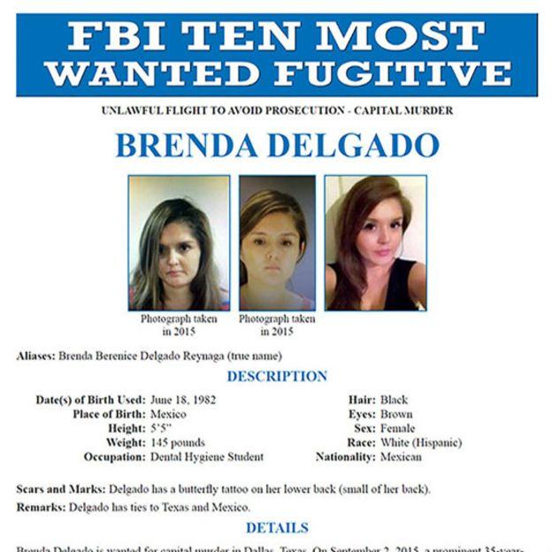 A mexicana é apenas a nona mulher a aparecer na lista do FBI, criada em 1950