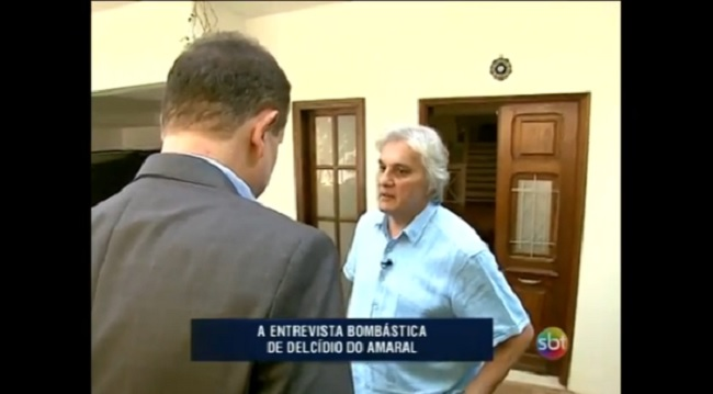 Delcídio do Amaral fala com Roberto Cabrini; assista