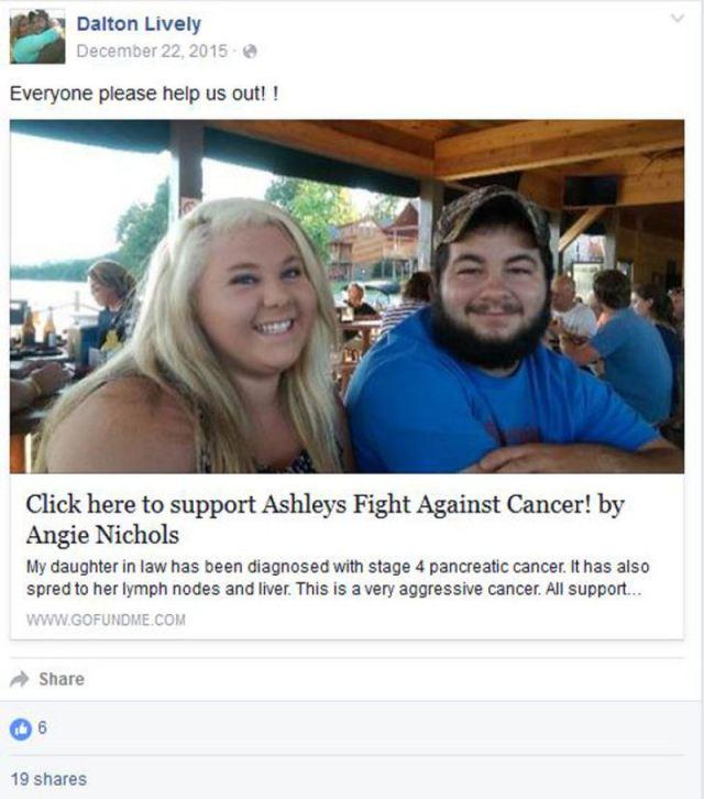 Mulher mente ter câncer