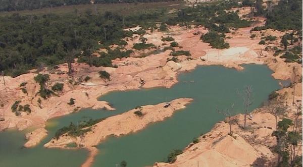 Garimpo gigantesco é encontrado em reserva ambiental, em Rondônia