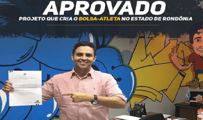 Léo Moraes destaca aprovação do Programa Bolsa Atleta em Rondônia