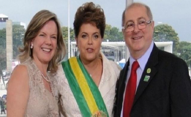 Paulo Bernardo é marido da senadora Gleisi Hoffmann (esq)