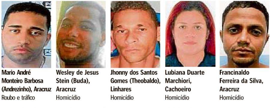 Governo capixaba divulga lista dos 30 criminosos mais procurados